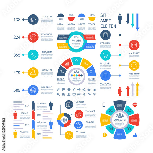 Infographic Multipurpose financial chart marketing graph, process