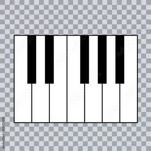 Piano Chords or piano key notes chart on transparent background