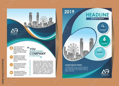 Vector Business brochure, flyers design template, company profile