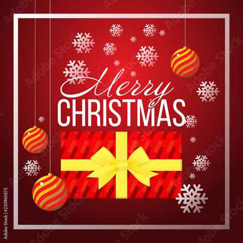 Christmas banner template background with merry christmas greeting