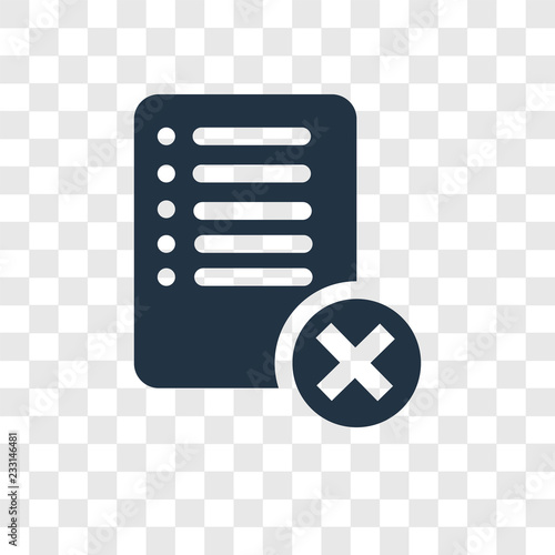 Delete vector icon isolated on transparent background, Delete