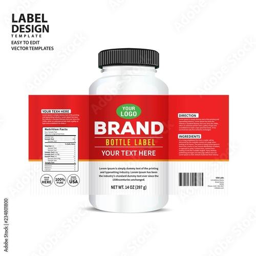 Bottle label, Package template design, Label design, mock up design