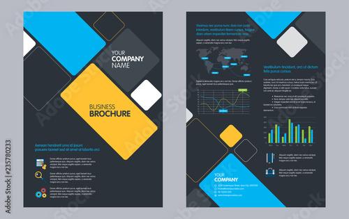 Flyers Design Template Business brochure flyer design Annual