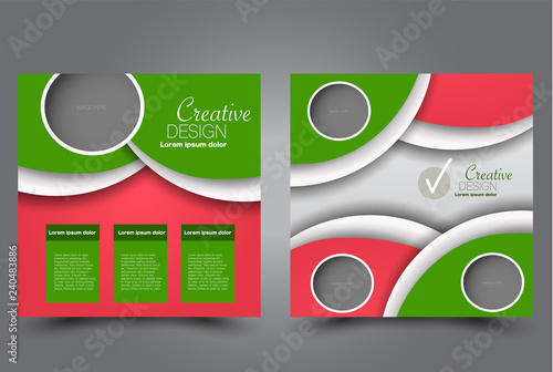 Square flyer design A cover for brochure Website or advertisement