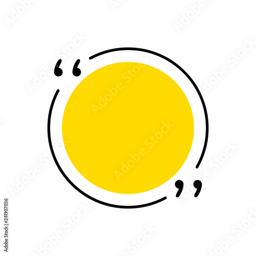 Quotes icon vector Quotemarks outline, speech marks, inverted