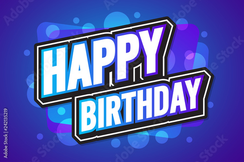 Happy Birthday Poster banner poster template background Vector