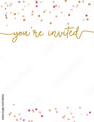 Cute Party Invitation Template You\u0027re Invited Party Invitation