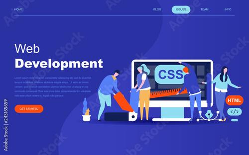 Modern flat design concept of Web Development for website and mobile