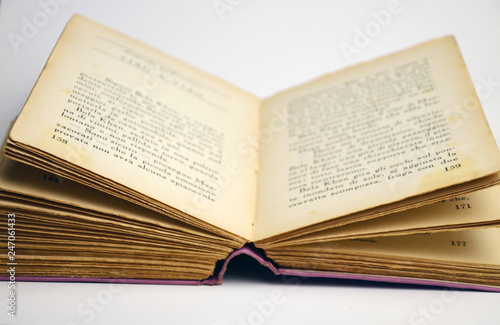 Open book pages\