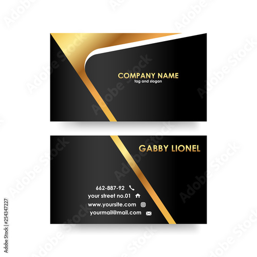 Creative and elegant double sided business card template Simple and