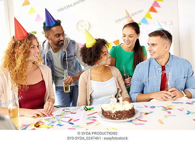 Birthday office cake Stock Photos and Images age fotostock