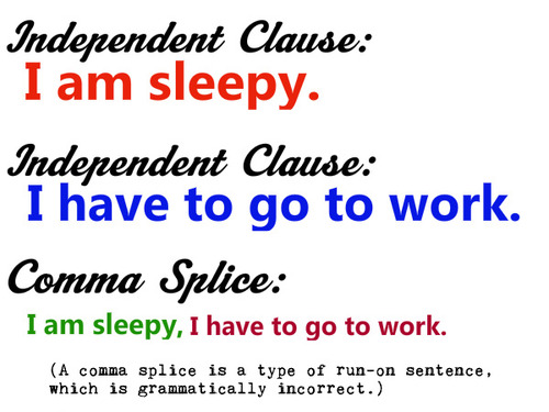Comma splice example Didactic Tools! Pinterest - resume examples for students