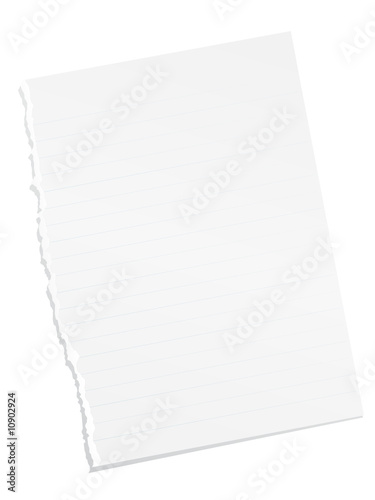 Ripped blank lined paper\