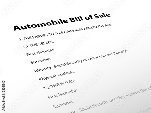 Automobile Bill of Sale\
