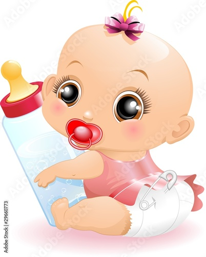 Cute Baby Feet Wallpaper Quot Neonato Beb 232 Con Biberon Baby With Baby Bottle 2 Vector