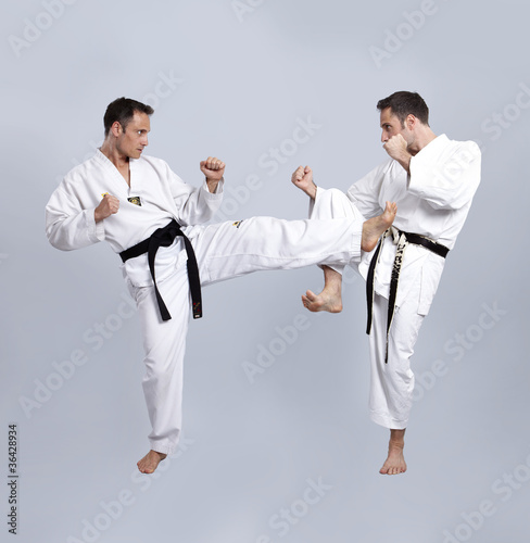 Karate vs Taekwondo, Partnertraining 08\