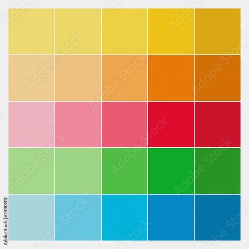 Farbquadrate \/ Farbmuster auf Betonputz - farbmuster wandfarbe