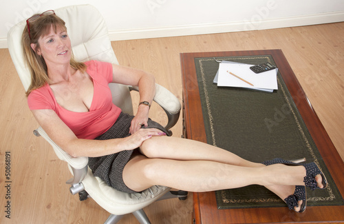 Marlboro Cigarette Wallpaper Hd Quot Mid Aged Secretary Sitting With Feet On Her Desk Quot Stock