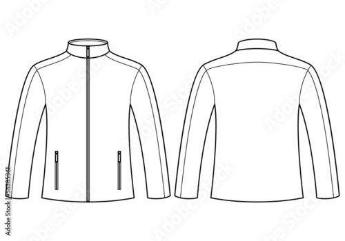 Quotjacket Template Front And Backquot Stock Image And Royalty