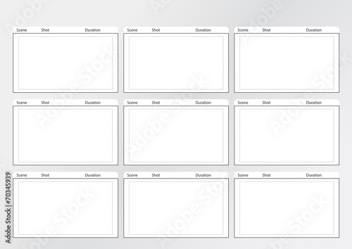 Professional of film storyboard template\