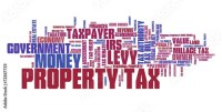 """""""Property tax. Word cloud illustration."""" Stock photo and ..."""