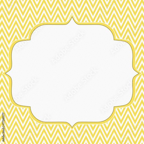 Yellow and White Chevron Zigzag Frame Background\
