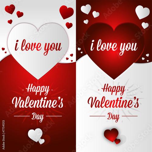 Carte postale jour Saint Valentin offrir amour anglais\