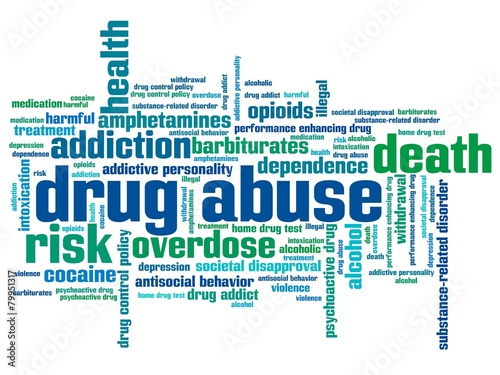 Substance abuse - words concept\