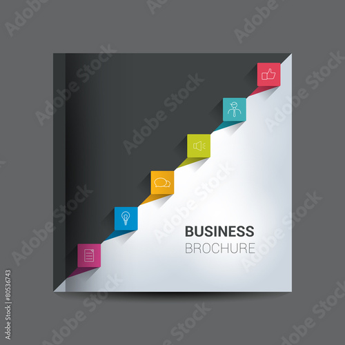 Text page template Brochure, flyer, annual report cover\