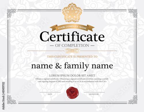 certificate design template\