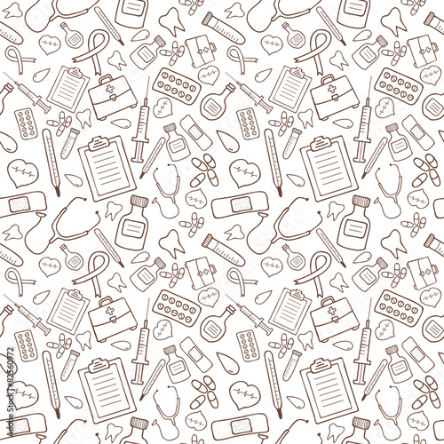 Super Mario 3d World Wallpaper Quot Seamless Pattern With Medical Icons On White Background