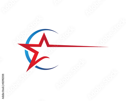 Red Star Logo Template\