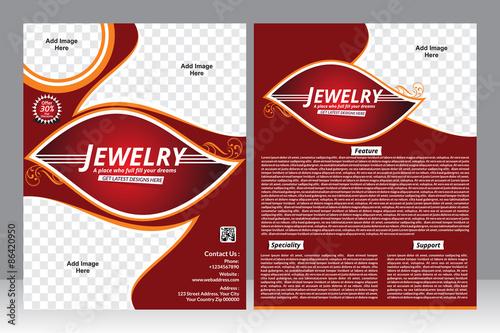 jewelry design flyer design template\