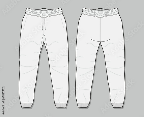 Quotsweatpants Templatequot Stock Image And Royalty Free Vector