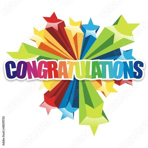 congratulations icon congratulations colorful on white background
