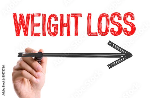 Hand with marker writing the word Weight Loss\