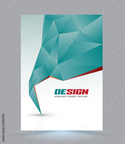 Cover page layout template Polygon abstract speech style Vector - Free Report Cover Page Template