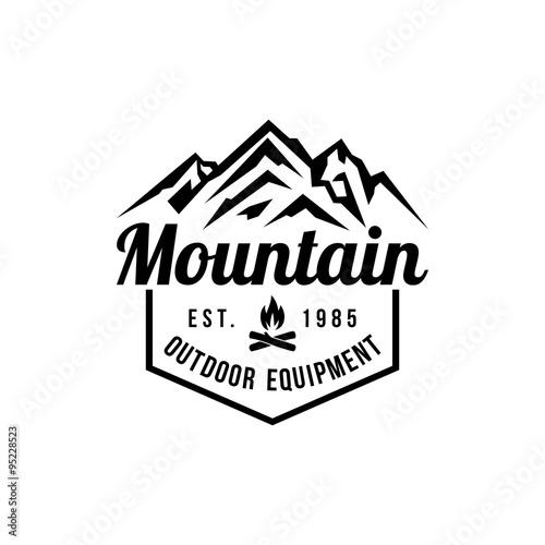 Mountain Hipster Logo template\