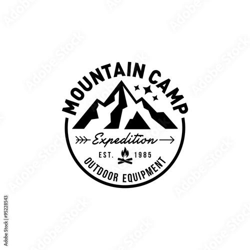Mountain Hipster Logo template\ - hipster logo template