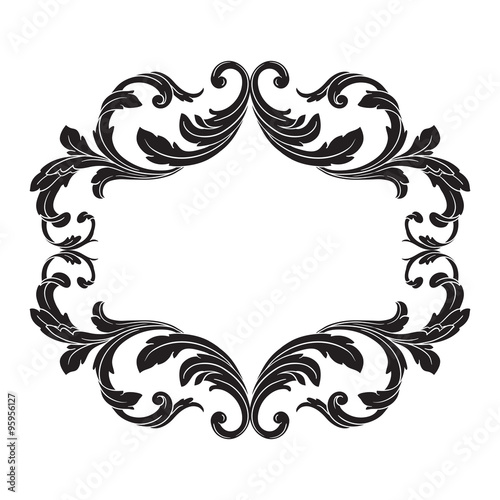 vector vintage border frame engraving with retro ornament  coloriage lol surprise a imprimer