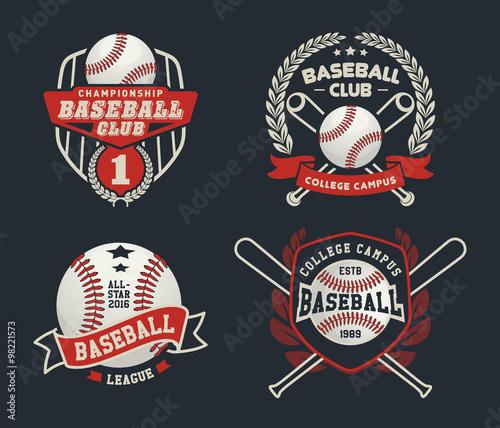 Baseball badge logo design suitable for logos, badge, banner, emblem