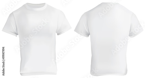 White Blank T-Shirt Design Template\