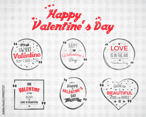 Valentine day Watercolor, ink, splash Quote blank templates - free quote form template