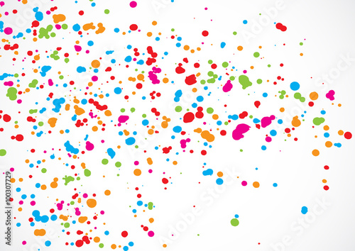 Falling Glitter Confetti Wallpapers Quot Abstract Color Splash Illustration On White Background