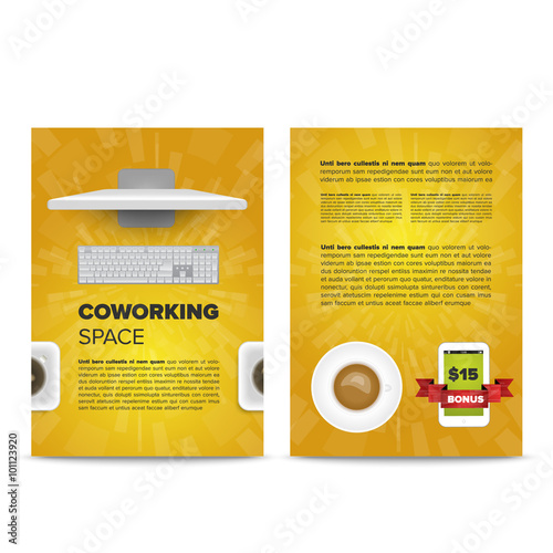 Coworking space leaflet template\ - leaflet template