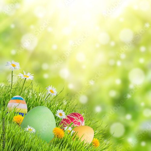 Easter Nature Holiday Background\