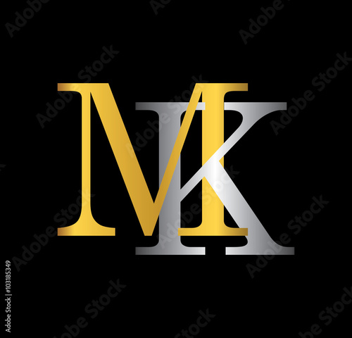 3d P Letter Wallpaper Quot Mk Initial Letter With Gold And Silver Quot Stock Image And