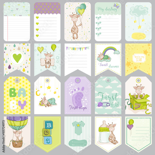 Baby Boy Tags Baby Banners Scrapbook Labels Cute Cards Baby