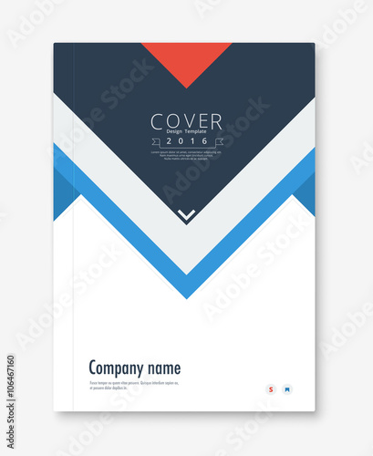 Annual report cover design book, brochure template with sample
