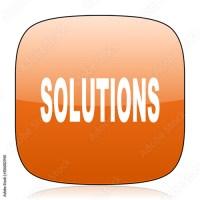 """""""solutions orange square web design glossy icon"""" Stock ..."""